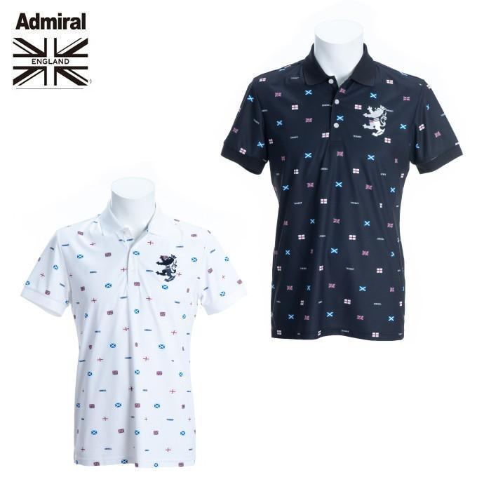 アドミラル Admiral ゴルフウェア ポロシャツ 半袖 メンズ フラッグ総柄半袖シャツ ADMA993