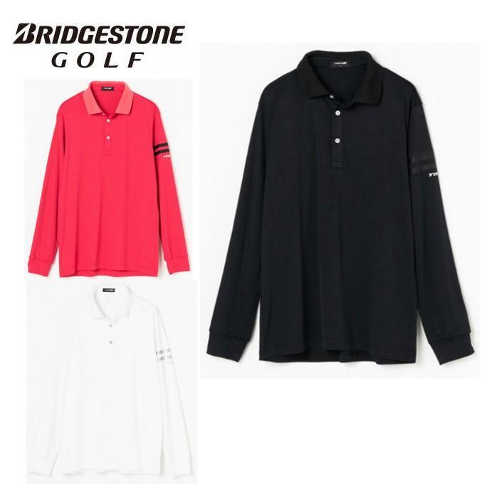 ブリヂストンゴルフ BRIDGESTONE GOLF ゴルフウェア ポロシャツ 長袖 メンズ TOUR B ツアービー 長袖台付きポロシャツ 防風機能付き QGM03F