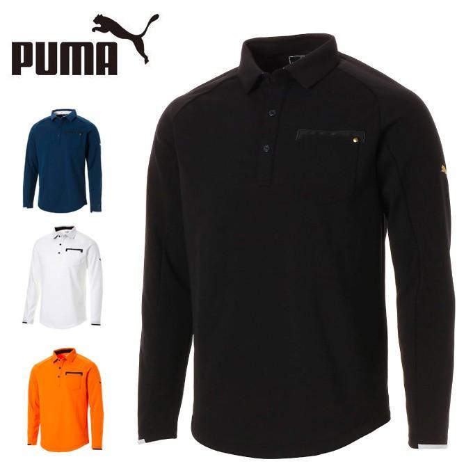 プーマ ゴルフウェア ポロシャツ 長袖 メンズ ジェネラル ポケット LS ポロシャツ 長袖 923904 PUMA