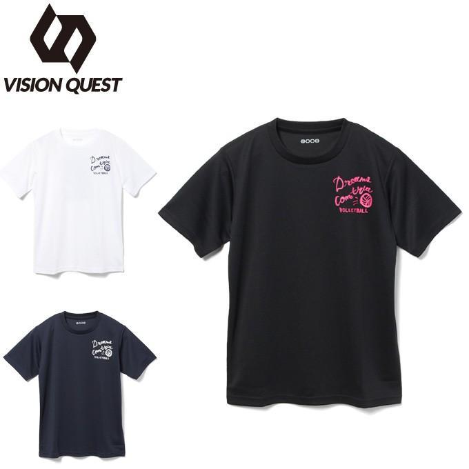 バレーボールウェア 半袖シャツ ジュニア バレー文字Tシャツ VQ570513J04 クリアランスsale 期間限定 QUEST スピード対応 全国送料無料 VISION ビジョンクエスト