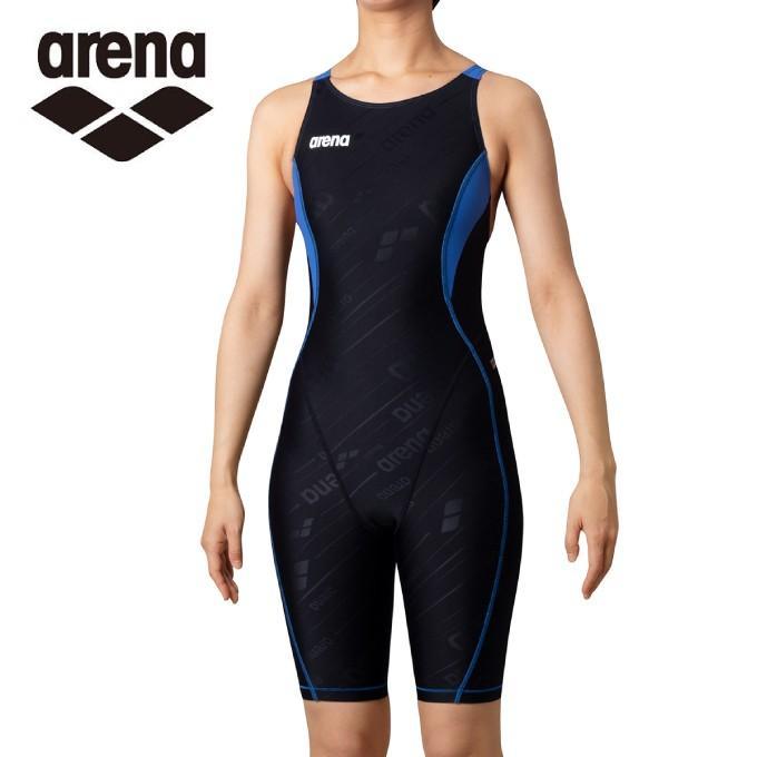 アリーナ トレーニング水着 お見舞い レディース TOUGHSUIT-flex タフスーツフレックス セイフリーバックスパッツ 在庫一掃売り切りセール SAR-0150W-BKBU arena 着やストラップ