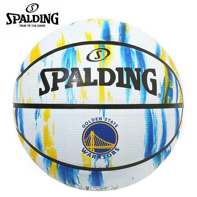 スポルディング バスケットボール 7号球 ウォリアーズ マーブル ラバー SPALDING 2020新作 即納最大半額 屋外用 84-100J ホワイト