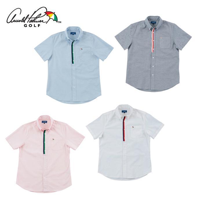 アーノルドパーマー arnold palmer ゴルフウェア オックスフォード半袖シャツ 日本最大級の品揃え AP220101J01 半袖シャツ 無料 メンズ