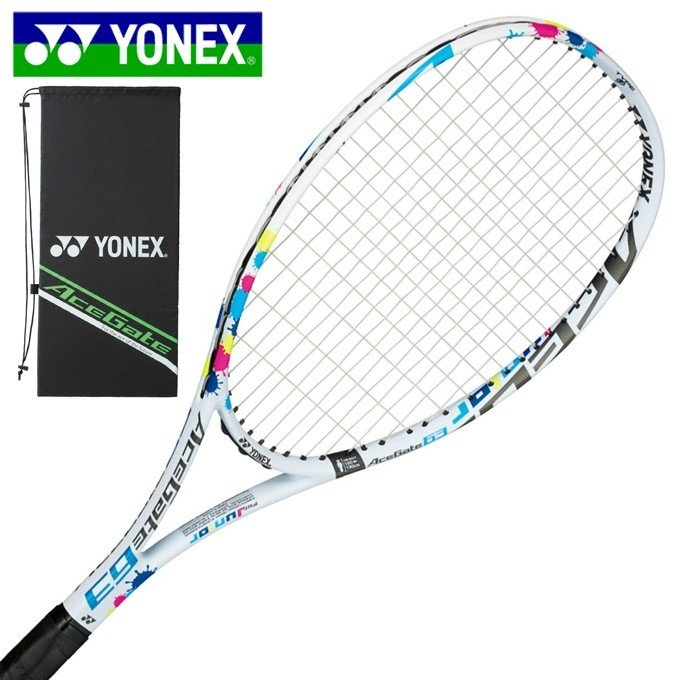 ヨネックス 品質検査済 ソフトテニスラケット オールラウンド 張り上げ済み ジュニア 新作 人気 ACE63G-011 63 YONEX ACEGATE エースゲート63