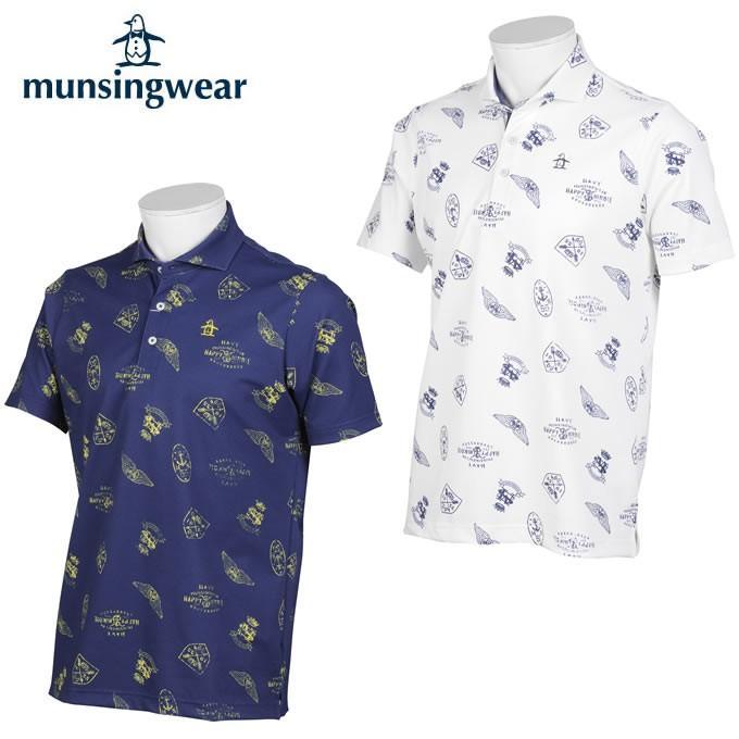 【正規逆輸入品】 マンシング Munsingwear ゴルフウェア 半袖シャツ メンズ ベア鹿の子PT半袖シャツ MGMPJA05, gelato-petit 4477f4ee