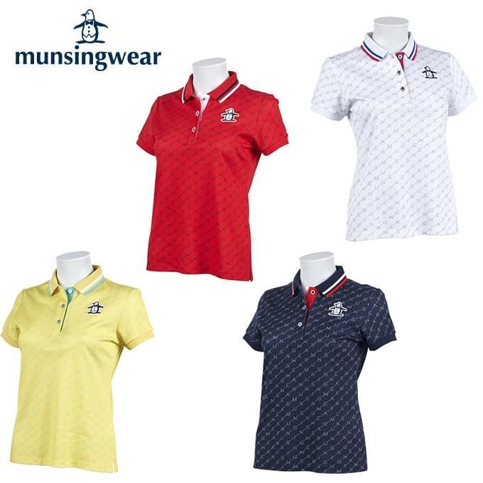ランキング第1位 マンシング MGWPJA03 ゴルフウェア Munsingwear ゴルフウェア Munsingwear 半袖シャツ レディース ダブルニット鹿の子ロゴ半袖シャツ MGWPJA03, アットデア:b367d065 --- airmodconsu.dominiotemporario.com