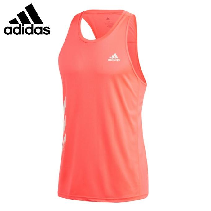 アディダス ランニングウェア Tシャツ ノースリーブ 今季も再入荷 メンズ オウン ザ adidas シングレット IDE48 GC7896 PB 本物◆ 3ストライプス ラン