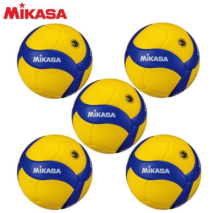 ミカサ MIKASA バレーボール 小学生 バレーボール4号×5個セット 検定球 V400W-L