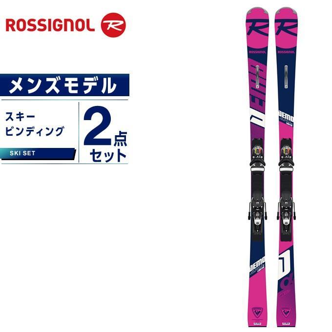 ロシニョール ROSSIGNOL スキー板 セット金具付 メンズ スキー板+ビンディング DEMO ALPHA Ti Ltd R22 +SPX12