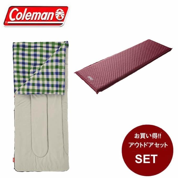 コールマン 封筒型シュラフ フリースイージーキャリースリーピングバッグ C5 + インフレーターマット シングル III 2000033803 + 2000032354 Coleman