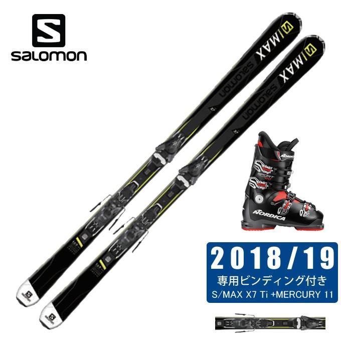 サロモン salomon スキー板 3点セット メンズ XDR 80 ST + MERCURY11-21 + SPORTMACHINE 80 スキー板+ビンディング+ブーツ