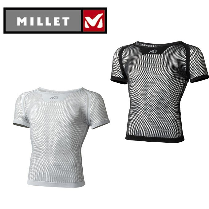 ミレー MILLET アンダーシャツ メンズ 休日 レディース DRYNAMIC MESH 最新アイテム SS od ショート ドライナミック スリーブ MIV01566 メッシュ クルー