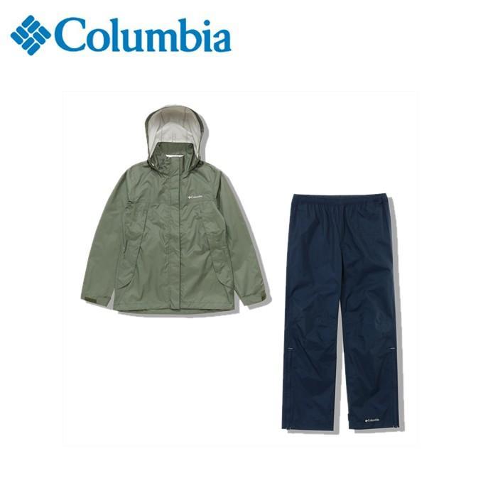 コロンビア レインウェア上下セット レディース シンプソンサンクチュアリウィメンズレインスーツ PL0125 316 Columbia od
