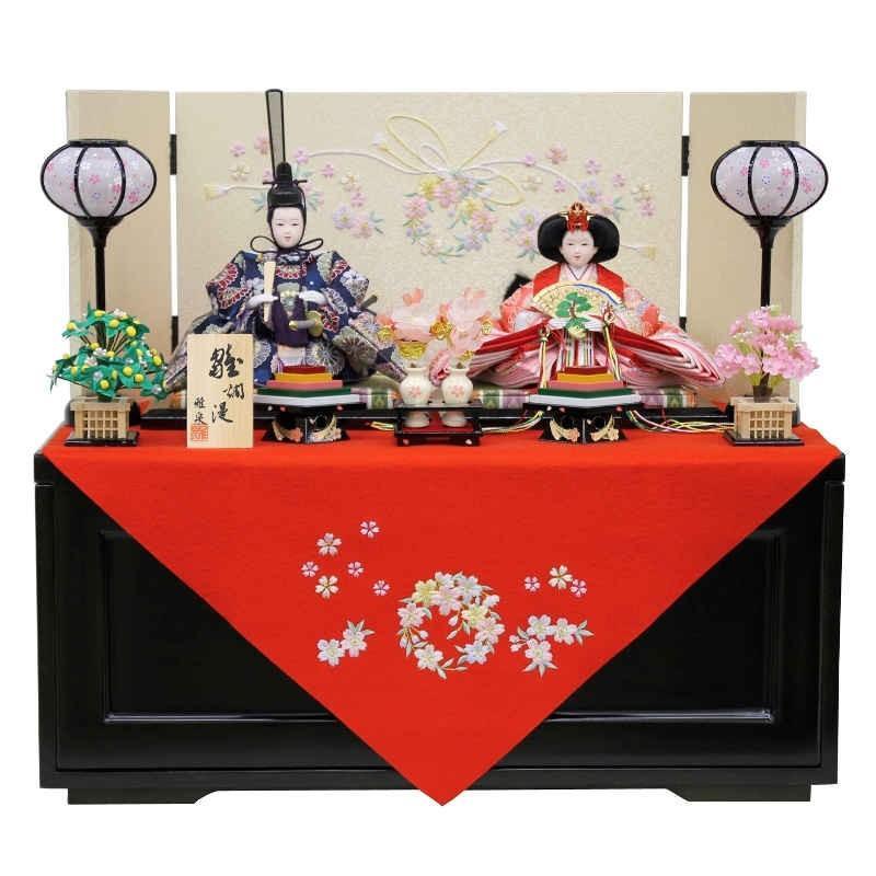 お気に入りの 雛人形 親王飾り 収納箱飾り fz-34-季節玩具