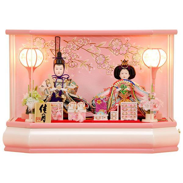 雛人形 ひな人形 K109 コンパクト 人形の佳月 雛人形 雛 ケース飾り 雛 雛名匠・逸品飾り 高級品 (2019年度新作)