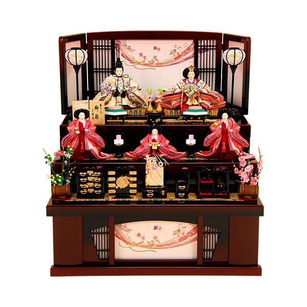 雛人形 K320 ひな人形 人形の佳月 収納飾り 3段飾り 高級品 送料無料