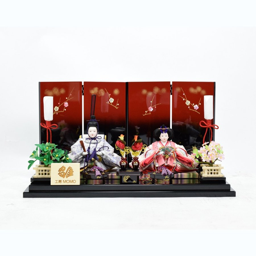 最安値に挑戦! ひな人形 【工房MOMO】 親王飾り 「うめ」-季節玩具