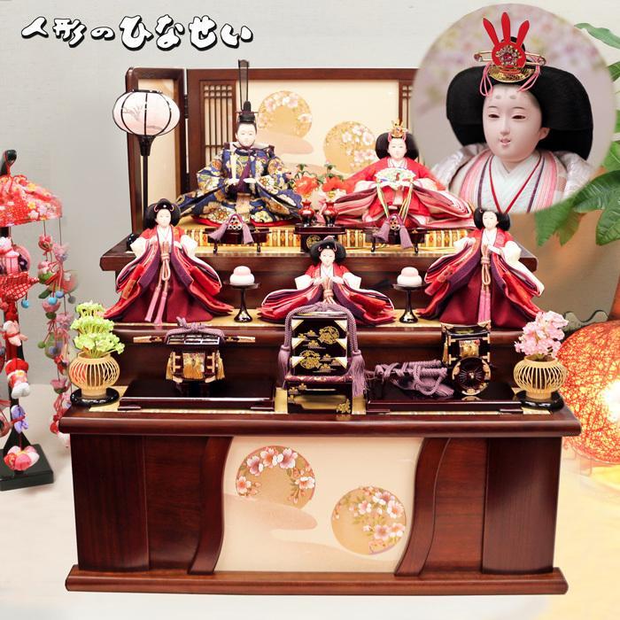 雛人形 スライド 3段飾り 【紗弥花雛】 高級 お雛様 豪華に飾れる ひな人形