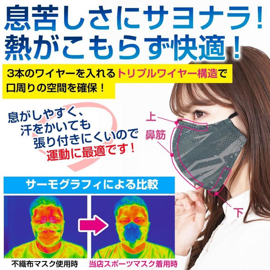 スポーツマスク 日本製 小杉織物 抗菌 夏用 マスク 洗える 大きめ メンズ ノーズワイヤー 洗えるマスク 涼しい 紐 調整 スポーツ 野球|hinatajapan|11