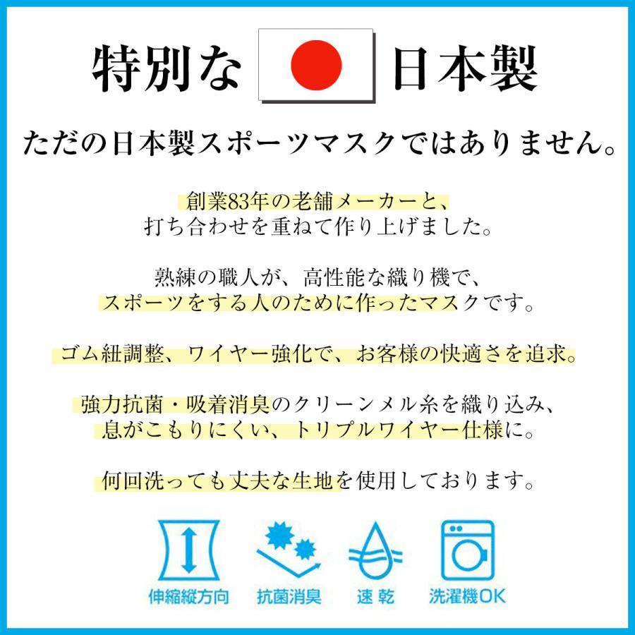 スポーツマスク 日本製 小杉織物 抗菌 夏用 マスク 洗える 大きめ メンズ ノーズワイヤー 洗えるマスク 涼しい 紐 調整 スポーツ 野球|hinatajapan|14