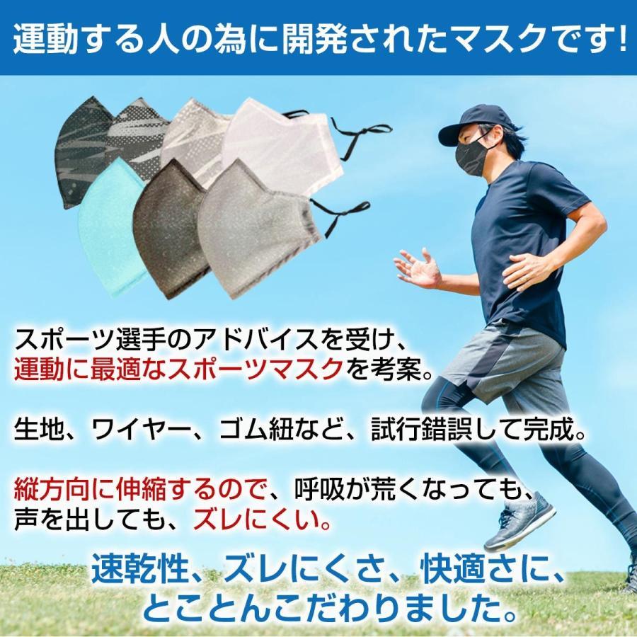 スポーツマスク 日本製 小杉織物 抗菌 夏用 マスク 洗える 大きめ メンズ ノーズワイヤー 洗えるマスク 涼しい 紐 調整 スポーツ 野球|hinatajapan|16