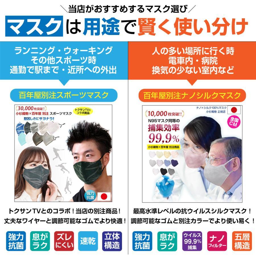 スポーツマスク 日本製 小杉織物 抗菌 夏用 マスク 洗える 大きめ メンズ ノーズワイヤー 洗えるマスク 涼しい 紐 調整 スポーツ 野球|hinatajapan|20
