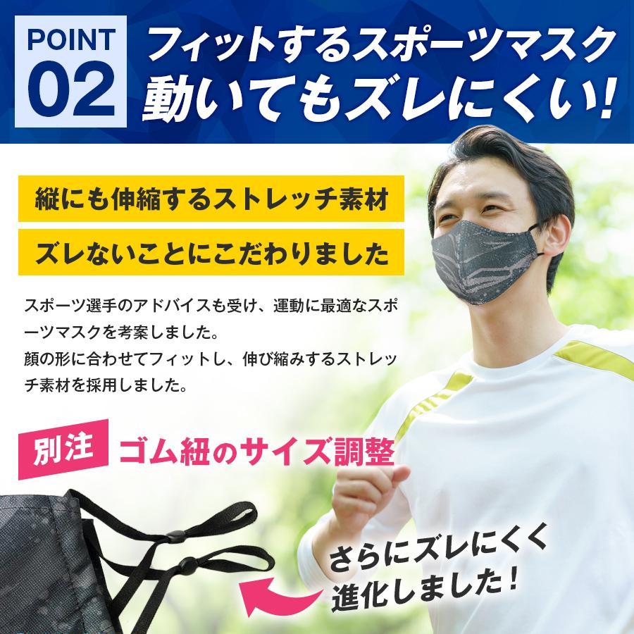 スポーツマスク 日本製 小杉織物 抗菌 夏用 マスク 洗える 大きめ メンズ ノーズワイヤー 洗えるマスク 涼しい 紐 調整 スポーツ 野球|hinatajapan|08