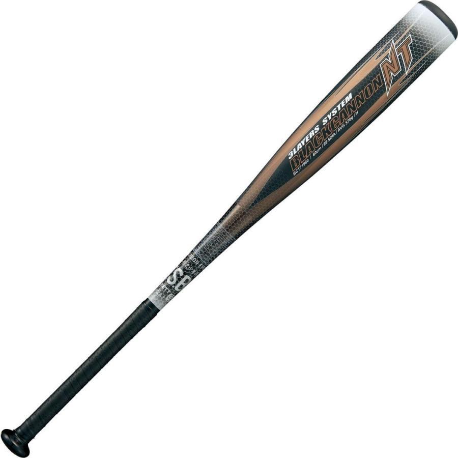 品質保証 ZETT(ゼット) 少年野球 軟式 バット ブラックキャノン NT 新軟式ボール対応 カーボン(FRP)製 ブラック(1900) 80cm 570g, ナガサワ文具センター 01607f1c