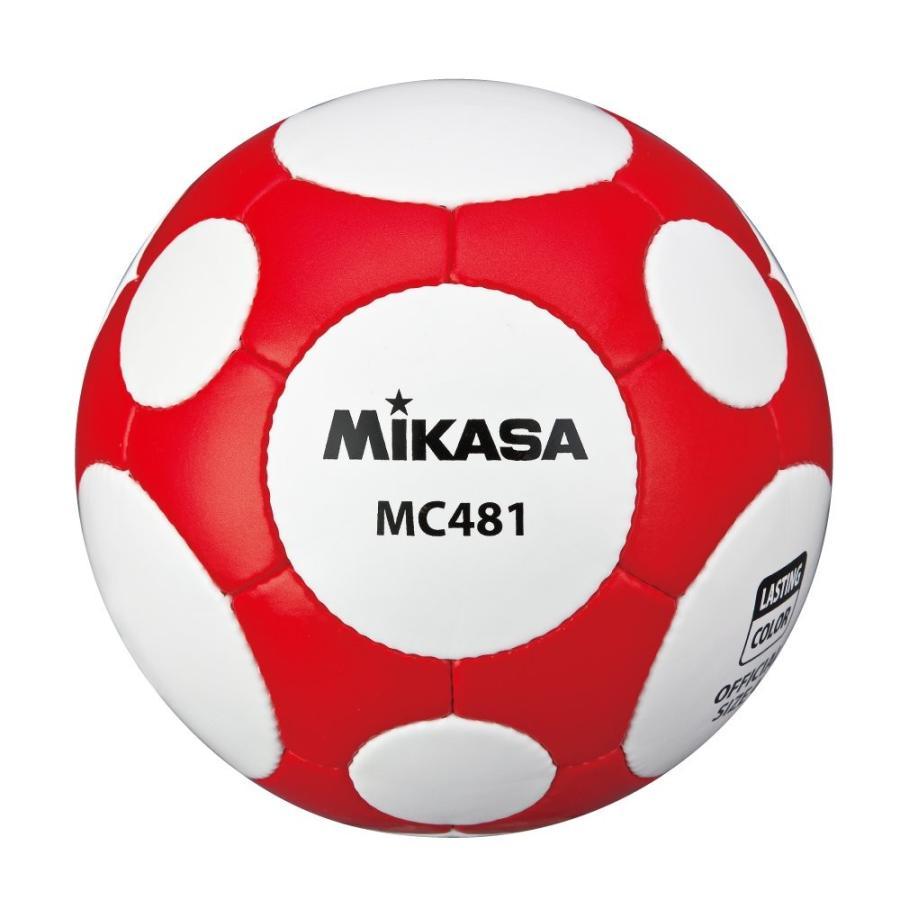 ミカサ ミカササッカーボール4号白赤 MC481-WR