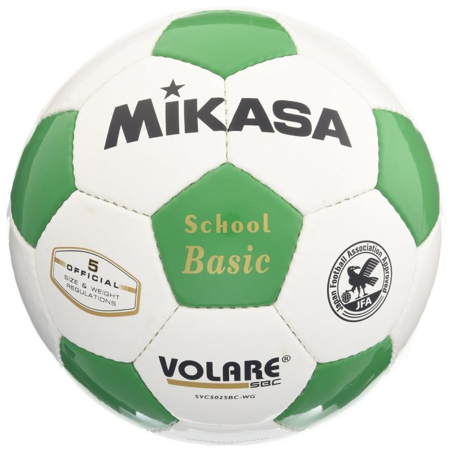 ミカサ サッカーボール5号 検定球 白緑 SVC502SBC-WG