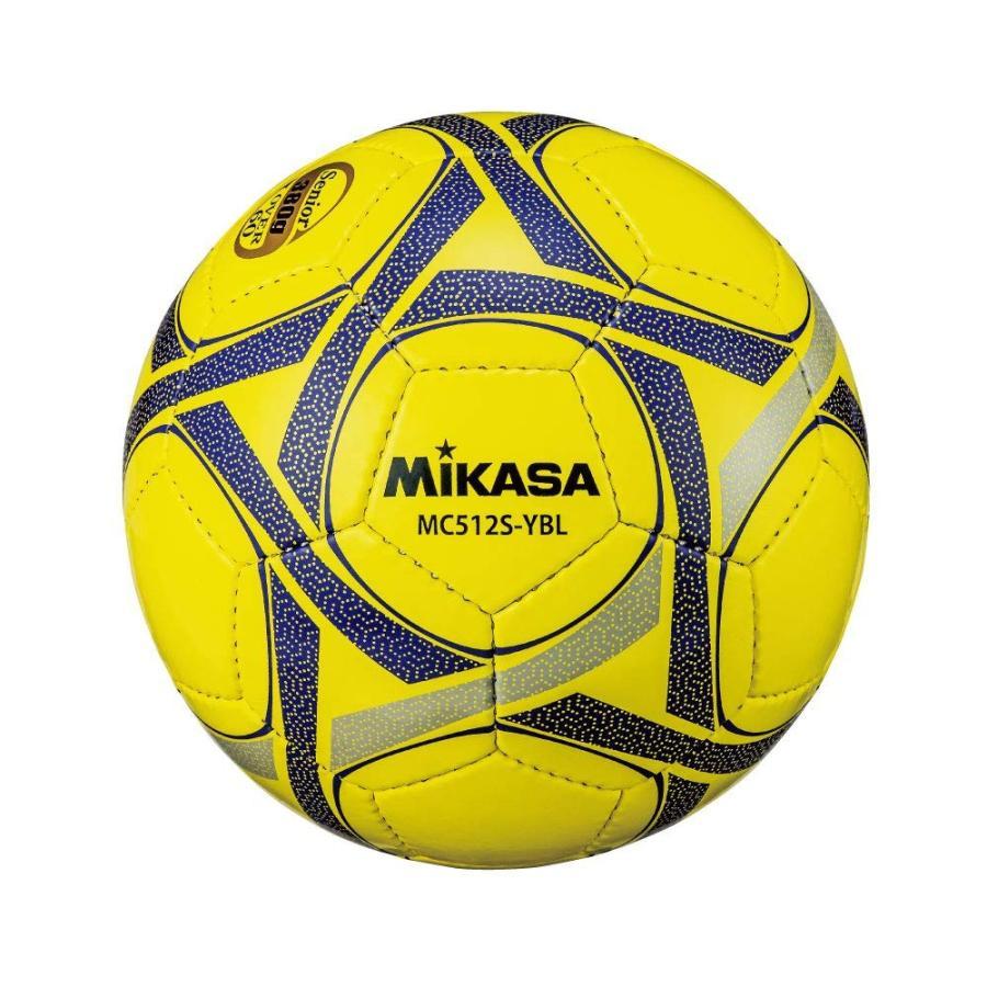 ミカサ サッカー5号手縫い 軽量試合球 約380g 黄青 MC512S-YBL