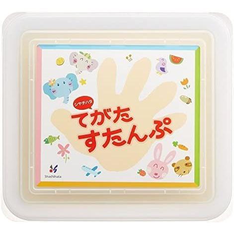シャチハタ てがたすたんぷセット 盤面176.8×157ミリ ブルー 赤ちゃん HT-BS/H-B (青)|hiramekidou|07