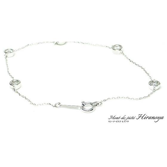 K18WG ダイヤモンドブレスレット|hiranoya78|03