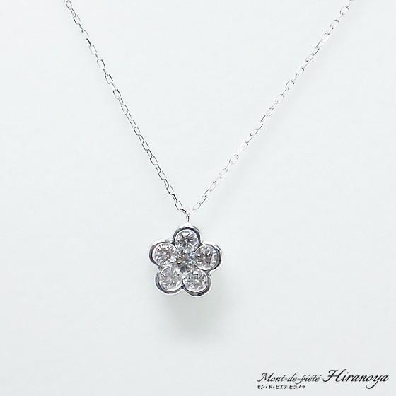 K18WG ダイヤモンドペンダントネックレス hiranoya78