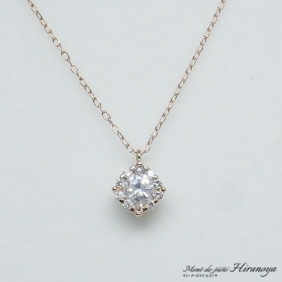 K18PG ダイヤモンドペンダントネックレス hiranoya78