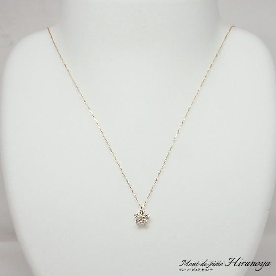 K18 ダイヤモンドペンダントネックレス|hiranoya78|02