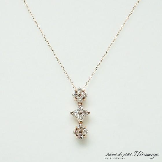 K18 ダイヤモンド2WAYペンダントネックレス hiranoya78