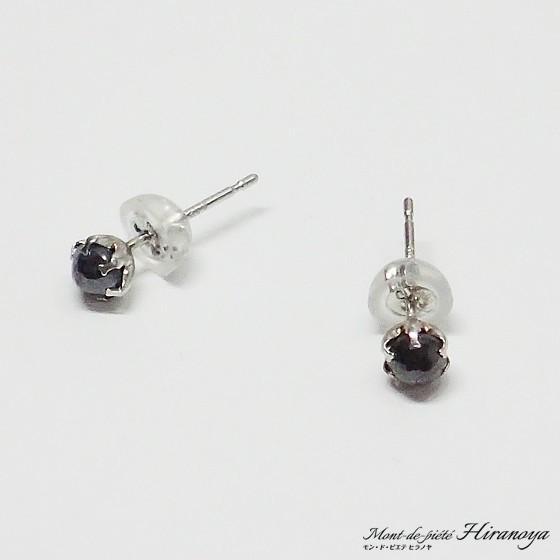 プラチナ ブラックダイヤピアス|hiranoya78|03