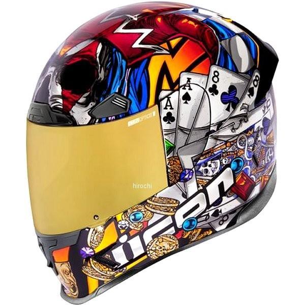 0101-12381 アイコン ICON 2019年秋冬モデル フルフェイスヘルメット AIRFRAME PRO LUCKYLID3 ゴールド XSサイズ HD店