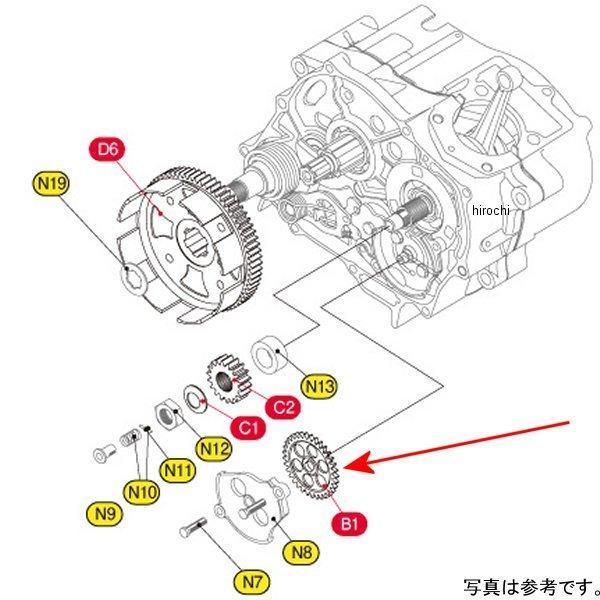 307-1122022 キタコ 超目玉 オイルポンプドライブギヤ33T エイプ JP店 2020春夏新作