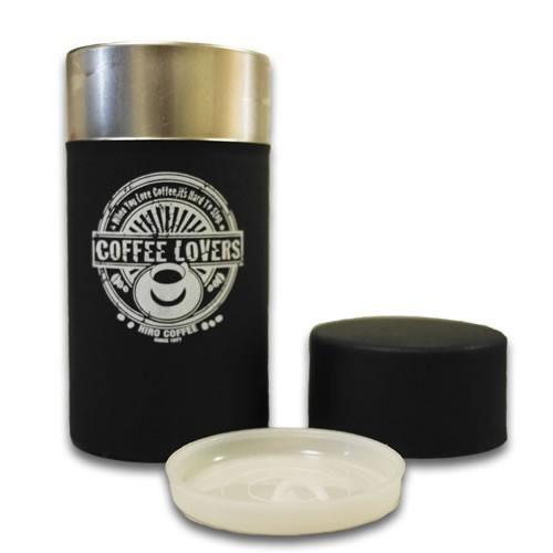 ヒロコーヒーオリジナル コーヒー豆 保存容器 キャニスター 缶 ブラック|hirocoffee-shop|03