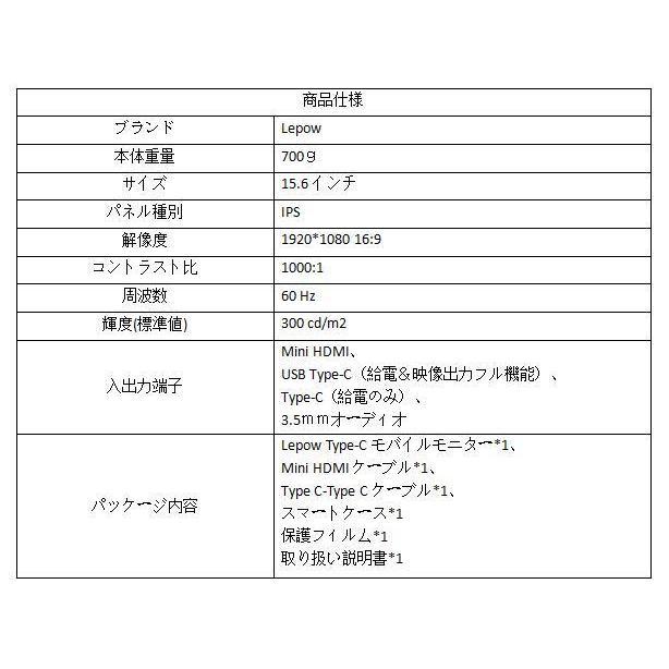 モバイルモニター 15.6インチ モバイルディスプレイ  ポータブル サブモニター IPSパネル デュアル  ゲーミング switch ps4 入学祝い Lepow おすすめ hiromi-shop 09