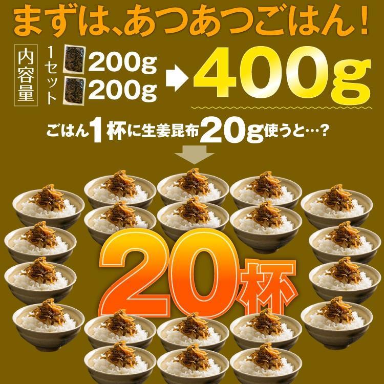 博多久松謹製 生姜昆布 200g×2パック入り 軽減税率対象 hisamatsu 05