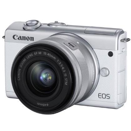 【送料無料】キヤノン Canon ミラーレス EOS M200 EF-M15-45 IS STM レンズキット ホワイト
