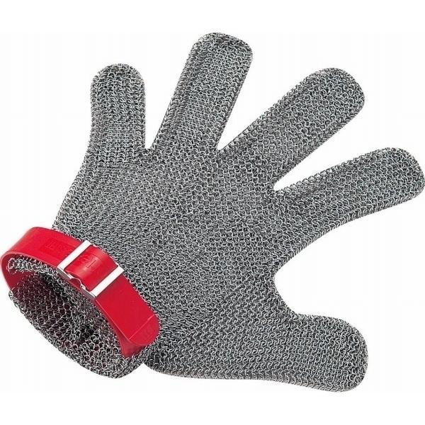 ニロフレックス メッシュ手袋5本指 M M5L-EF 左手用(赤) STBD803