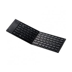 青toothキーボード/折りたたみタイプ/マルチペアリング対応/ブラック TK-FLP01BK