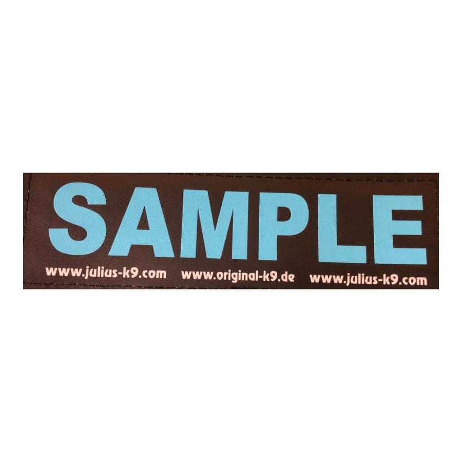 Julius K9 (黒地/蛍光反射加工 ブルー) お名前入りラベル L サイズ - 2枚セット|hivikigallery