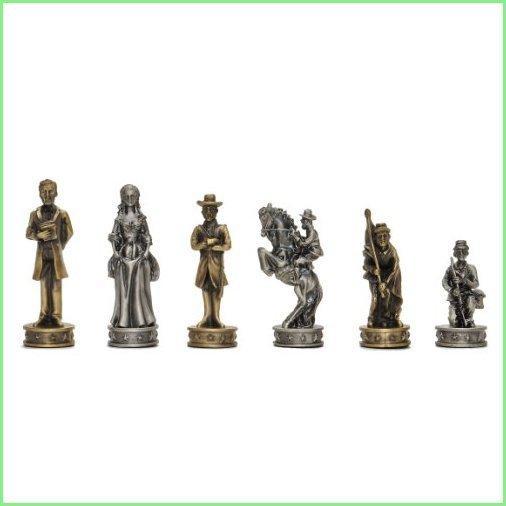 Wood Expressions WE Games Civil War Chessmen - Pewter 並行輸入品
