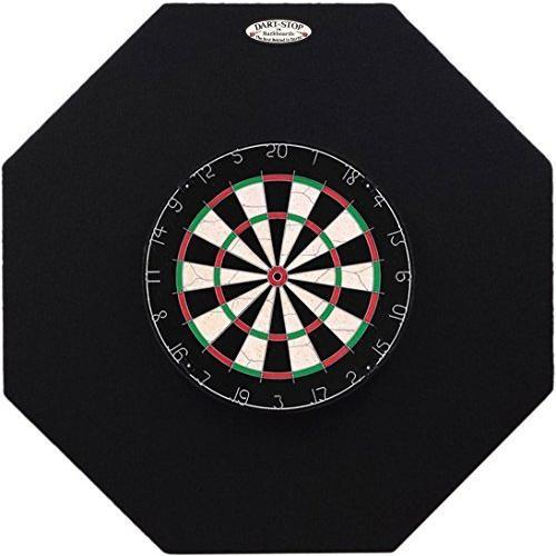 海外限定 Dart-Stop 36 inch Black Octagon Pro Dart Board Back Board   Wall Protector   Dartboard Surround