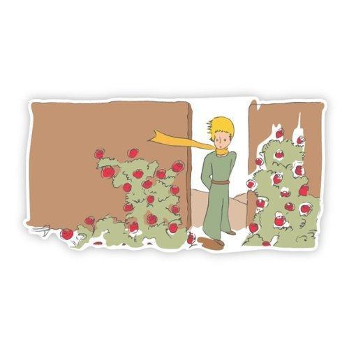 海外限定 Walls 360 Peel & Stick Wall Decal: The Little Prince in The Garden of Roses (72 in x 37.25 in)